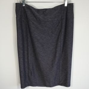 Prana Vertex High-rise skirt gray pencil style L